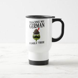 Trazado de mi árbol de familia alemán taza de viaje