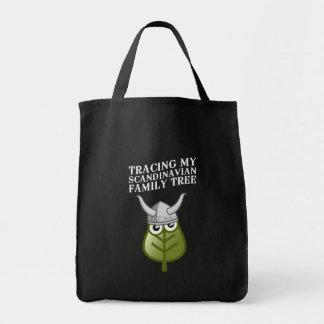Trazado de mi árbol de familia escandinavo bolsa tela para la compra
