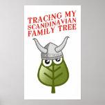 Trazado de mi árbol de familia escandinavo posters