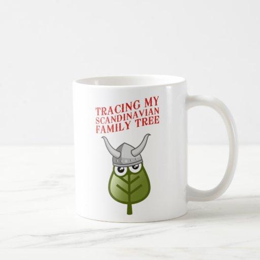 Trazado de mi árbol de familia escandinavo tazas