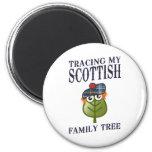 Trazado de mi árbol de familia escocés imán
