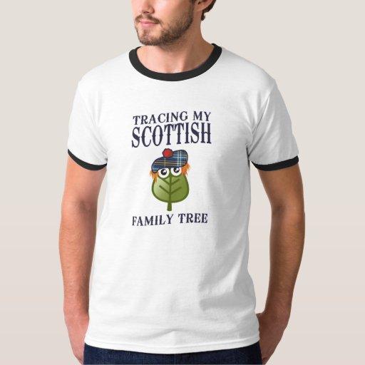 Trazado de mi árbol de familia escocés playeras