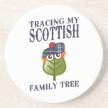 Trazado de mi árbol de familia escocés posavasos diseño