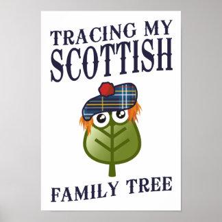 Trazado de mi árbol de familia escocés póster