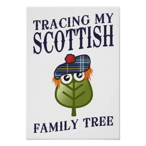 Trazado de mi árbol de familia escocés poster