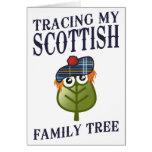 Trazado de mi árbol de familia escocés tarjeta