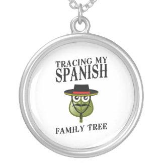 Trazado de mi árbol de familia español collares personalizados