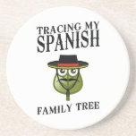 Trazado de mi árbol de familia español posavaso para bebida