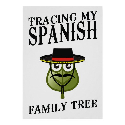 Trazado de mi árbol de familia español póster