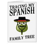 Trazado de mi árbol de familia español tarjetón
