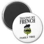 Trazado de mi árbol de familia francés imanes para frigoríficos