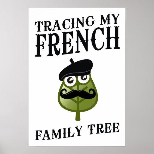 Trazado de mi árbol de familia francés posters