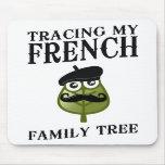 Trazado de mi árbol de familia francés alfombrillas de ratón