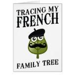 Trazado de mi árbol de familia francés felicitaciones