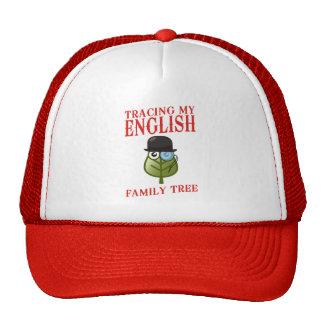 Trazado de mi árbol de familia inglés gorros bordados