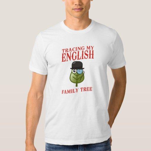 Trazado de mi árbol de familia inglés remera