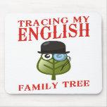 Trazado de mi árbol de familia inglés tapete de ratón