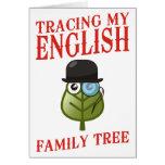 Trazado de mi árbol de familia inglés felicitaciones