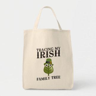 Trazado de mi árbol de familia irlandés bolsa tela para la compra