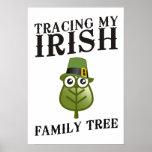 Trazado de mi árbol de familia irlandés posters