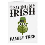 Trazado de mi árbol de familia irlandés felicitación
