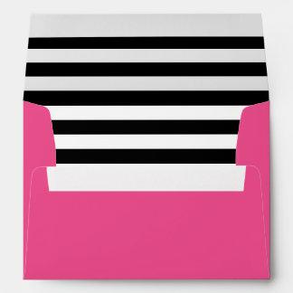 Trazador de líneas blanco y negro de las rayas de sobres