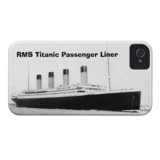 Trazador de líneas de pasajero titánico del RMS Case-Mate iPhone 4 Funda