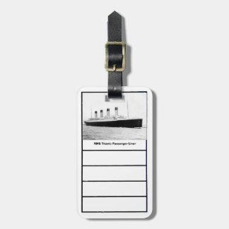 Trazador de líneas de pasajero titánico del RMS Etiquetas De Maletas