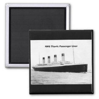 Trazador de líneas de pasajero titánico del RMS Imán Para Frigorífico