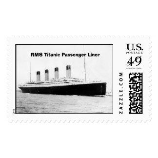 Trazador de líneas de pasajero titánico del RMS Timbre Postal