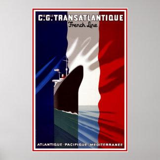 Trazador de líneas del francés del viaje del
