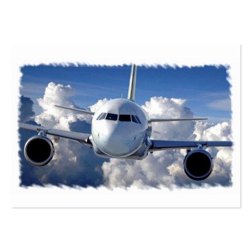 Trazador de líneas del jet plantillas de tarjeta de negocio