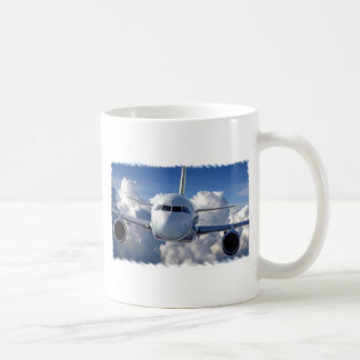 Trazador de líneas del jet tazas de café