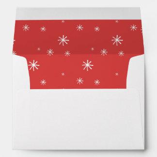 Trazador de líneas del navidad rojo y blanco del sobres