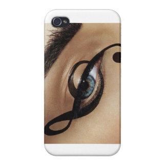 Trazador de líneas del ojo de la música iPhone 4 fundas