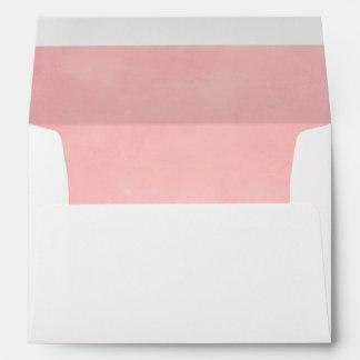Trazador de líneas rosado del sobre del efecto de