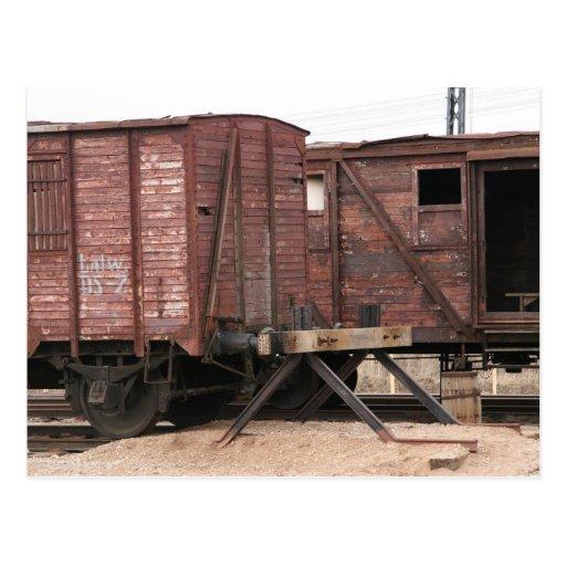 Trazador de líneas-trenes antiguos tarjeta postal