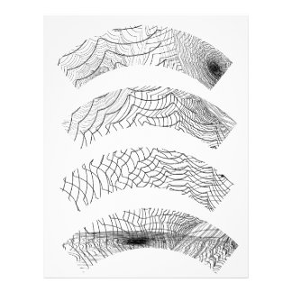 Trazadores de líneas de la magdalena del fondo de membrete a diseño