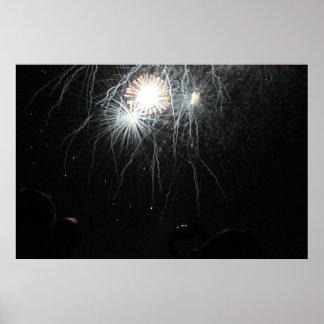 Trazalíneas en la noche posters