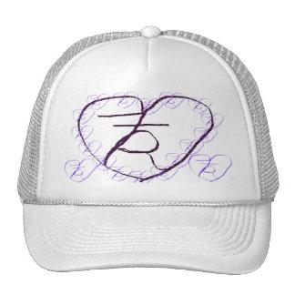 Trazalíneas místico Hat1 del corazón Gorro