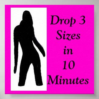 tre2 lady logo, Drop 3 Sizesin10 Minutes Poster