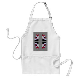 TRE 4 Triangles Abstract Grey Blue Red White Aprons