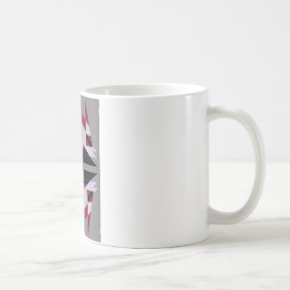 TRE 4 Triangles Abstract Grey Blue Red White Coffee Mug