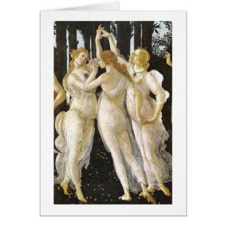 Tre Grazie (Three Graces), Sandro Botticelli Cards