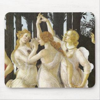 Tre Grazie Three Graces Sandro Botticelli Mouse Pad