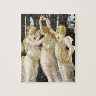 Tre Grazie (Three Graces), Sandro Botticelli Jigsaw Puzzles