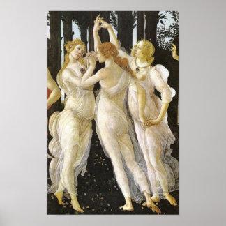 Tre Grazie (tres tolerancias), Sandro Botticelli Poster