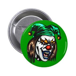 Treacherous Evil Clown 2 Inch Round Button