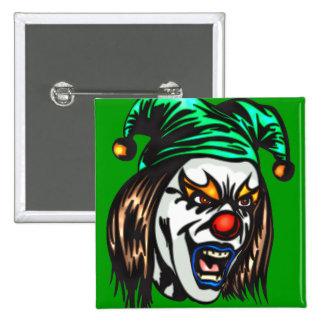 Treacherous Evil Clown 2 Inch Square Button