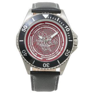 Tread Brand Stainless Steel / Black Leather Wristwatch